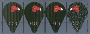 """Buzz off, You Turkey""  by Charley Harper"
