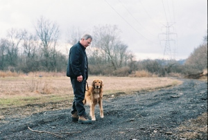 Ray Sabo is a Mariemont resident who has a garden plot in the lower 80 acres, and said he believes the deer down there need to be culled somehow.  He and his dog Sadie often take walks around the area, in winter.