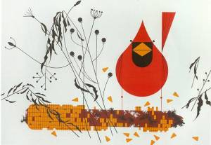 """Red and Fed"" by Charley Harper"