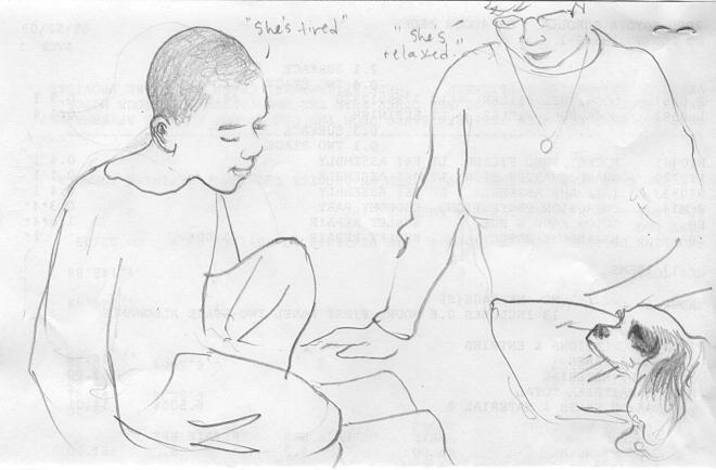Kid 3 reads to Stella